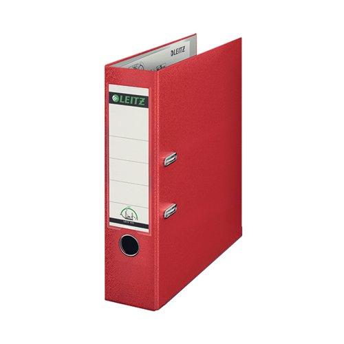 Leitz Lever Arch File Polypropylene Foolscap Red 1110-25