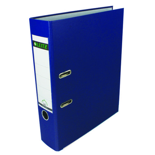Leitz 180 Polypropylene Foolscap Blue Lever Arch File (Pack of 10) 1110-35
