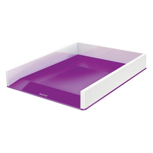 Leitz WOW Letter Tray Dual Colour White/Purple 53611062