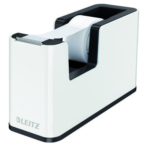 Leitz WOW Tape Dispenser Dual Colour White/Black 53641095