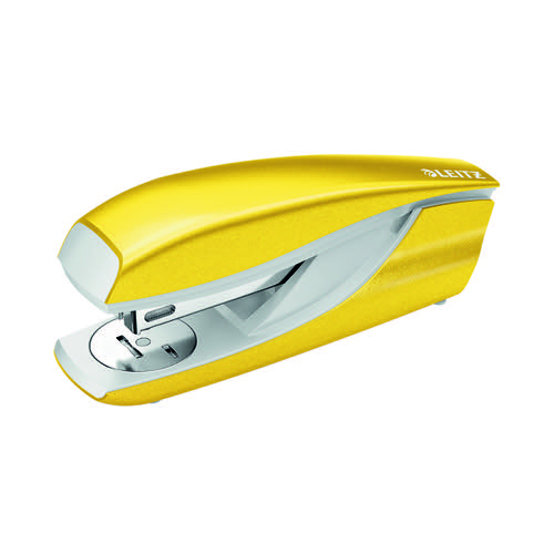 Leitz NeXXt WOW Metal Office Stapler 30 Sheets Yellow 55021016
