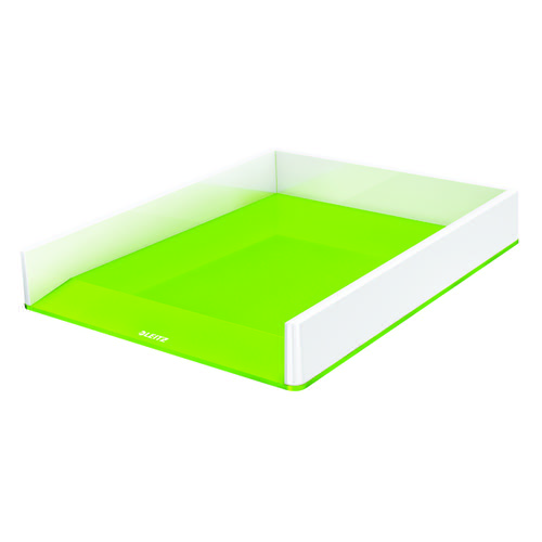 Leitz WOW Letter Tray Dual Colour White/Green 53611054