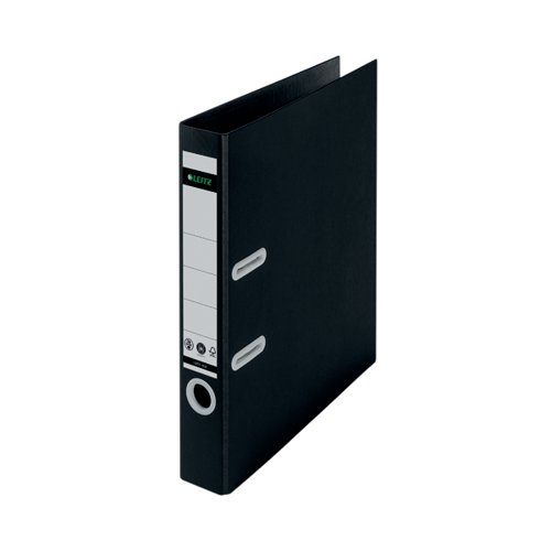 Leitz LAF180 Recycled 50mm A4 Black (Pack of 10) 10190095