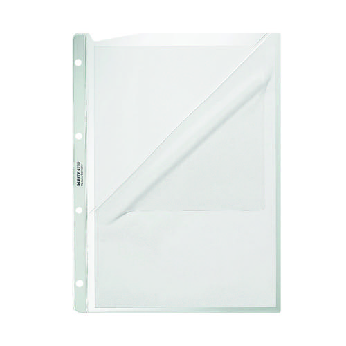 Leitz Pocket Embossed 0.13mm PP A4 Clear (Pack of 100) 4780003