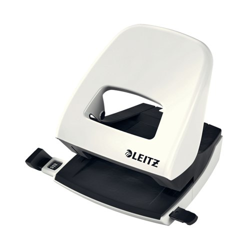 Leitz NeXXt WOW Metal Office Hole Punch Pearl White 50081001