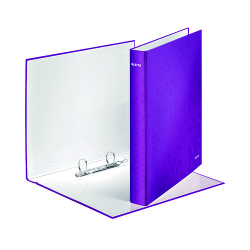 Leitz Wow A4 Plus 25mm Purple 2 D-Ring Binder (Pack of 10) 42410062