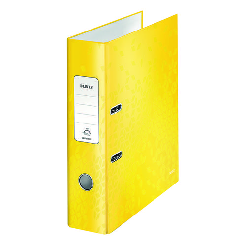 Leitz 180 WOW Lever Arch File A4 80mm Yellow (Pack of 10) 10050016