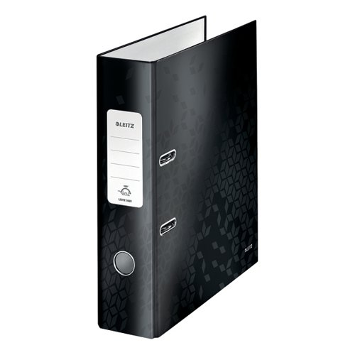 Leitz 180 WOW Lever Arch File A4 80mm Black (Pack of 10) 10050095