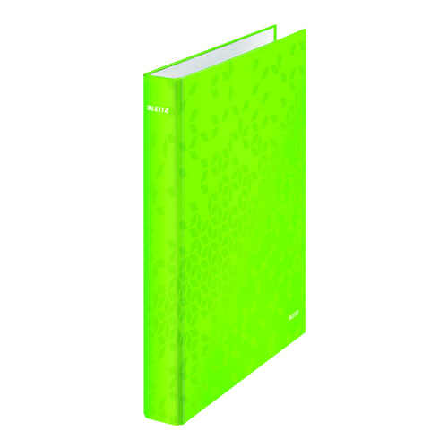 Leitz WOW Ring Binder A4 25mm Green (Pack of 10) 42410054