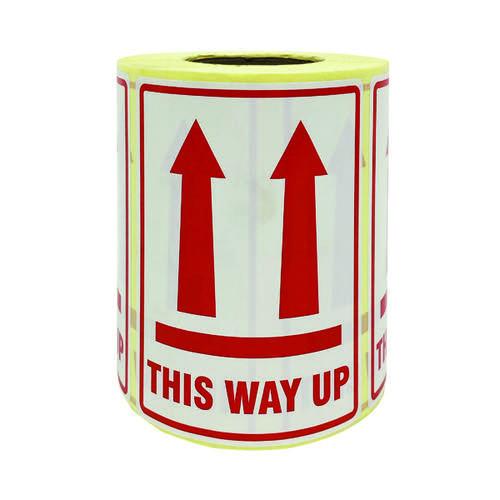 This Way Up Parcel Labels 500 Per Roll MA07625