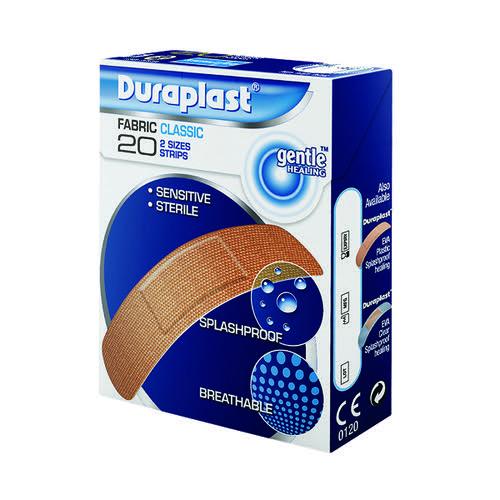 Duraplast 20 Assorted Fabric Plasters (Pack of 12) PDF20M