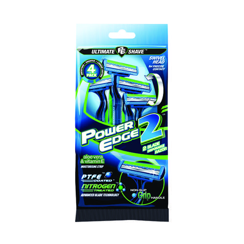 Power Edge 2 Disposable Razors x4 (Pack of 36) RPEDP2-4