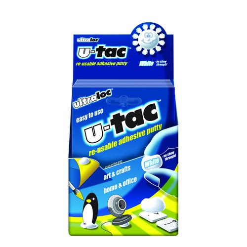 Ultraloc U-Tac Re-Usable Adhesive Putty White (Pack of 12) SUUT12