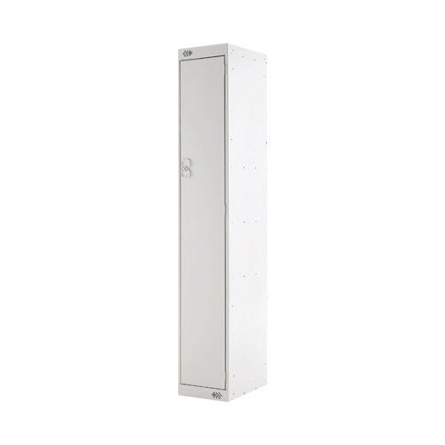 Single Compartment Locker D300mm Light Grey Door MC00002