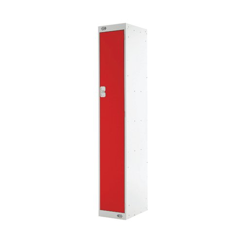 Single Compartment Locker D300mm Red Door (Dimensions: H1800 x D300 x W300mm) MC00005