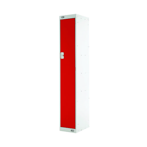 Single Compartment Locker 300x300x1800mm Red Door MC00005