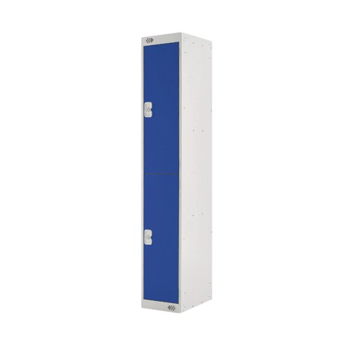 Two Compartment Locker D300mm Blue Door MC00007