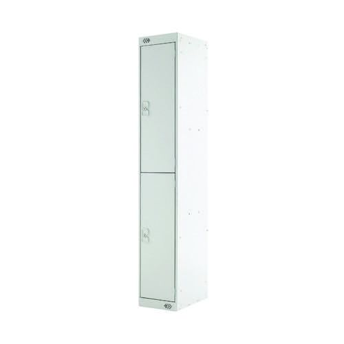 Two Compartment Locker D300mm Light Grey Door MC00008