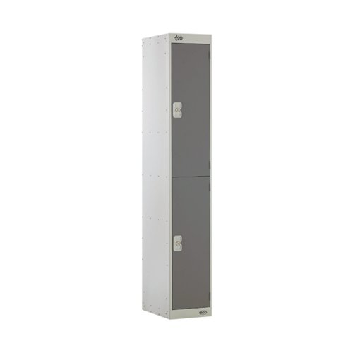 Two Compartment Locker D300mm Dark Grey Door MC00009