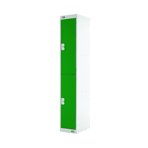 Two Compartment Locker D300mm Green Door (Dimensions: H1800 x D300 x W300mm) MC00010