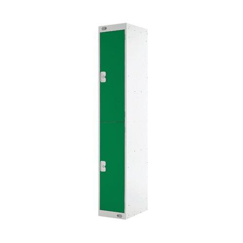 Two Compartment Locker 300x300x1800mm Green Door MC00010
