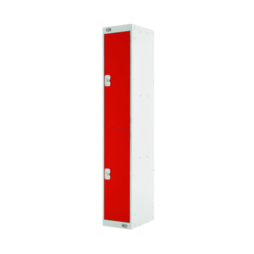 Two Compartment Locker D300mm Red Door MC00011