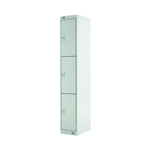 Three Compartment Locker D300mm Light Grey Door MC00014