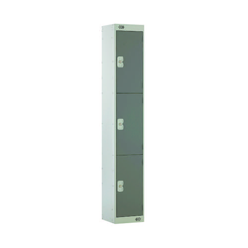 Three Compartment Locker D300mm Dark Grey Door MC00015