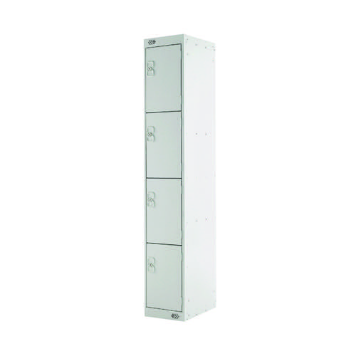 Four Compartment Locker D300mm Light Grey Door MC00020