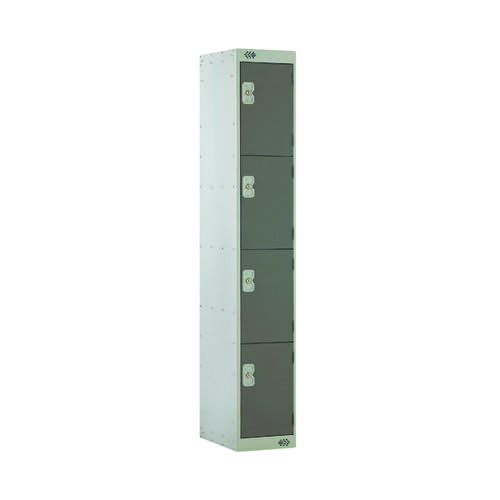Four Compartment Locker D300mm Dark Grey Door MC00021
