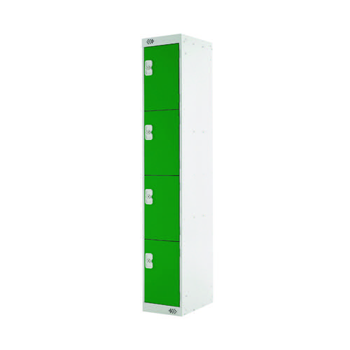 Four Compartment Locker 300x300x1800mm Green Door MC00022