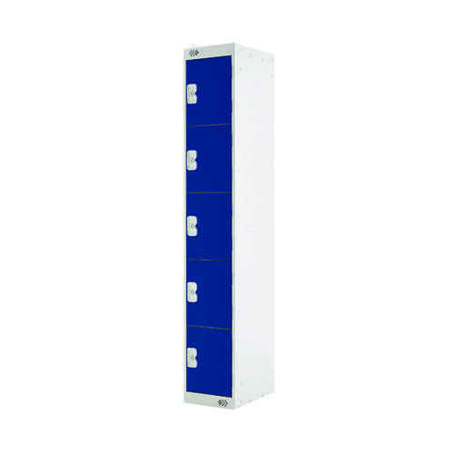 Five Compartment Locker D300mm Blue Door (Dimensions: H1800 x D300 x W300mm) MC00025