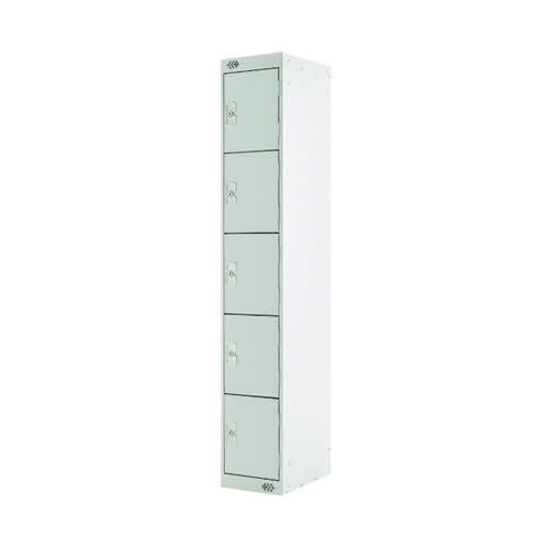Five Compartment Locker D300mm Light Grey Door MC00026