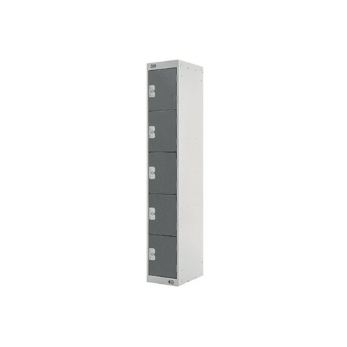 Five Compartment Locker D300mm Dark Grey Door MC00027