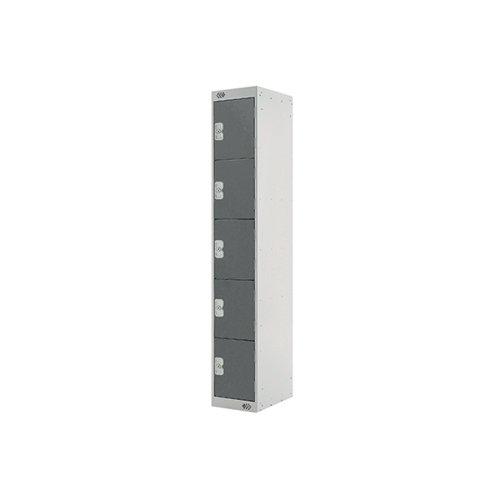 Five Compartment Locker 300x300x1800mm Dark Grey Door MC00027