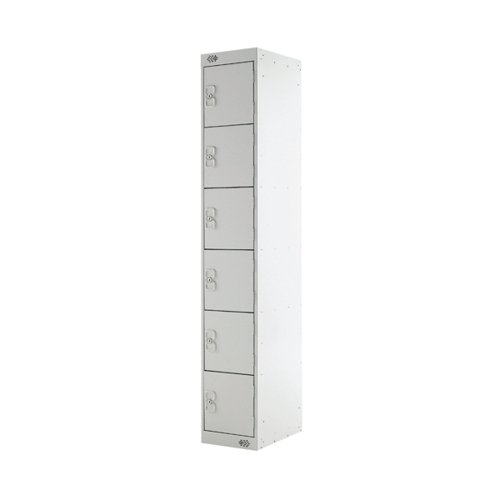 Six Compartment Locker D300mm Light Grey Door MC00032