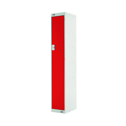 Single Compartment Locker D450mm Red Door (Dimensions: H1800 x W300 x D450mm) MC00041