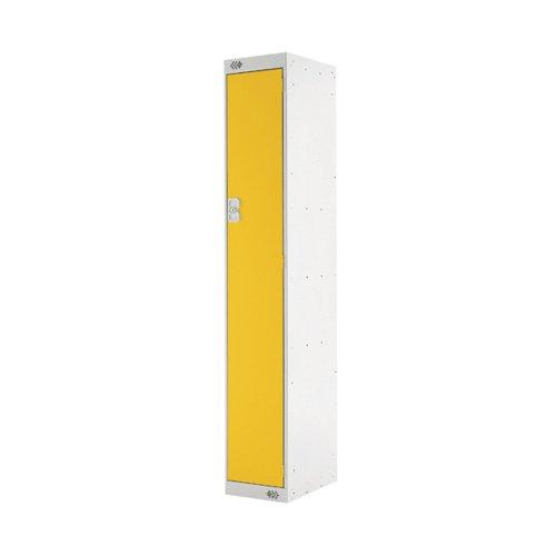 Single Compartment Locker 300x450x1800mm Yellow Door MC00042