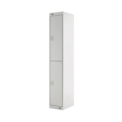 Two Compartment Locker 300x450x1800mm Light Grey Door MC00044