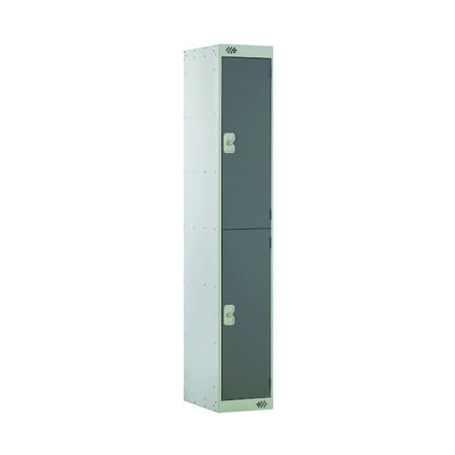 Two Compartment Locker D450mm Dark Grey Door MC00045