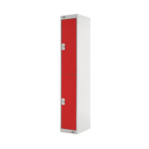 Two Compartment Locker D450mm Red Door MC00047