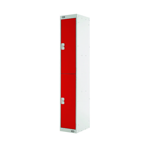 Two Compartment Locker 300x450x1800mm Red Door MC00047