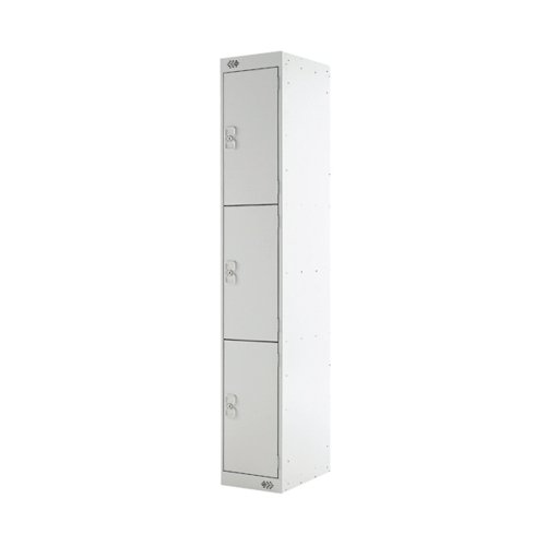 Three Compartment Locker D450mm Light Grey Door MC00050