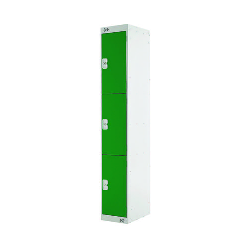 Three Compartment Locker D450mm Green Door MC00052