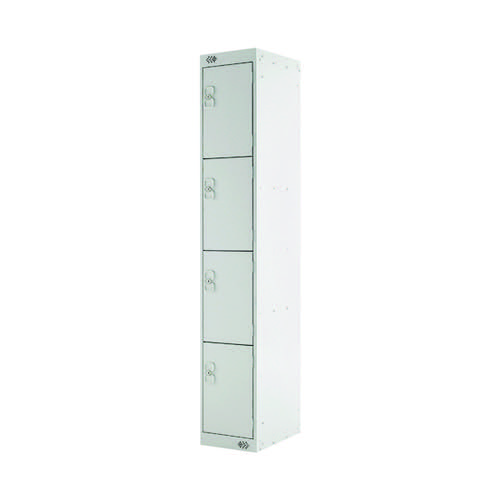 Four Compartment Locker D450mm Light Grey Door MC00056