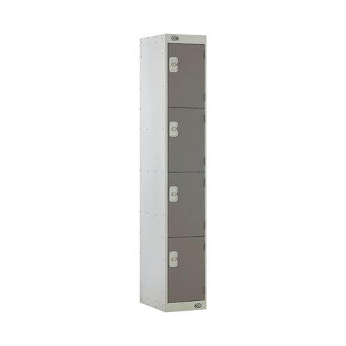 Four Compartment Locker D450mm Dark Grey Door MC00057