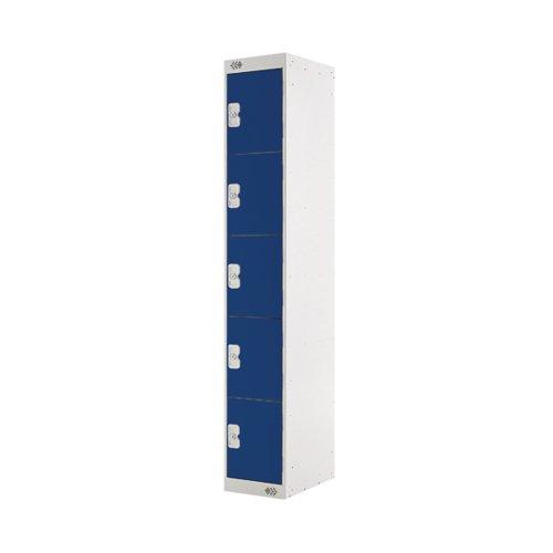 Five Compartment Locker D450mm Blue Door (Dimensions: H1800 x W300 x D450mm) MC00061
