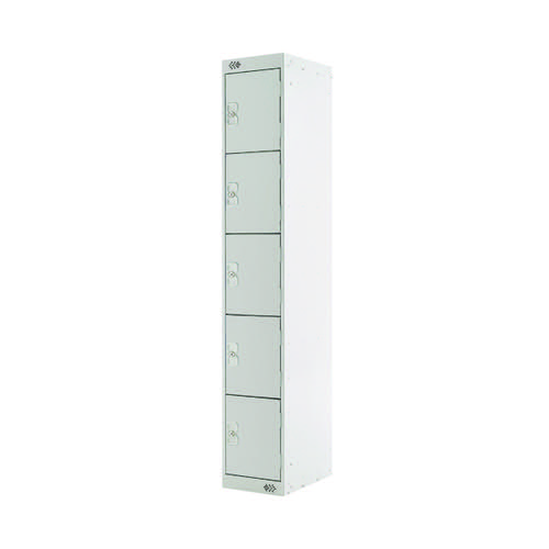 Five Compartment Locker D450mm Light Grey Door MC00062