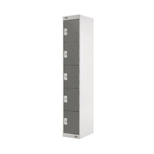 Five Compartment Locker D450mm Dark Grey Door MC00063