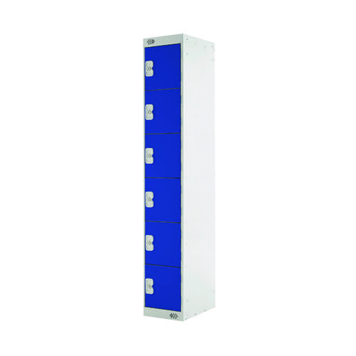 Six Compartment Locker D450mm Blue Door MC00067